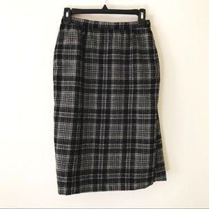PENDLETON Vintage Drummond Gray Tartan Wool Skirt